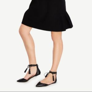 Ethel Leather Tassel Pointed Flats